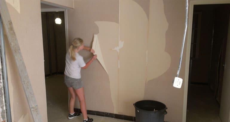 Emejing Comment Enlever Du Papier Peint Photos - House Design ...